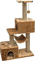 Домик-когтеточка Дарэлл Джут 95 / RP833313 (коричневый) -