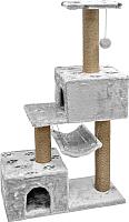 Домик-когтеточка Дарэлл Джут 95 / RP833317 (серый) -