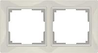 Рамка для выключателя Werkel Basic WL03-Frame-02 / a036631 (слоновая кость) -