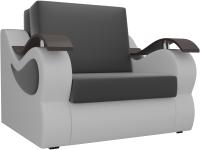 Кресло-кровать Mebelico Меркурий 223 / 100688 (60, экокожа черный/белый) -