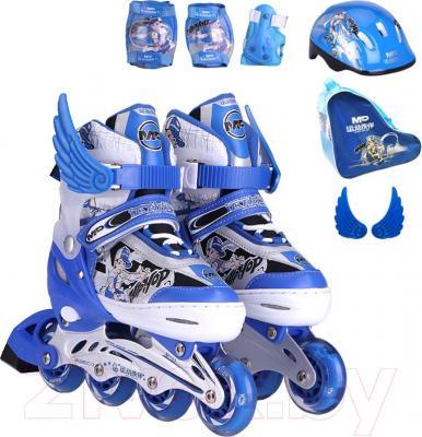 Роликовые коньки Motion Partner MP123L (L, голубой) - комплектация
