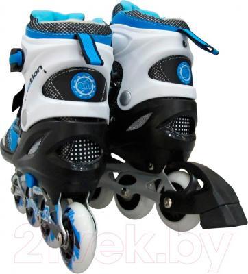 Роликовые коньки Motion Partner MP121L (L, голубой) - вид сзади