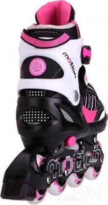 Роликовые коньки Motion Partner MP122L (L, розовый) - вид сзади