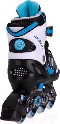 Роликовые коньки Motion Partner MP122L (L, голубой) - вид сзади