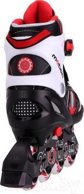Роликовые коньки Motion Partner MP122L (L, красный) - вид сзади