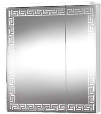 Шкаф с зеркалом для ванной Акваль Паола 60 / EP.04.60.10.L