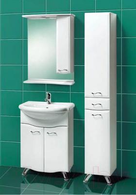 Шкаф с зеркалом для ванной Акваль Грант 60 / В1.1.38.1.9.2 - в интерьере