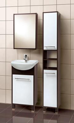 Шкаф с зеркалом для ванной Акваль Карина 47 / ЕК.04.47.00.L - в интерьере