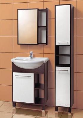 Шкаф с зеркалом для ванной Акваль Карина 60 / ЕК.04.60.00.L - в интерьере