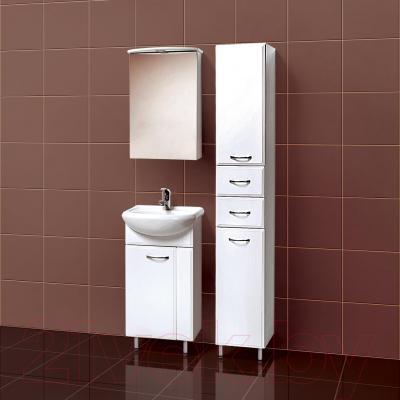 Шкаф с зеркалом для ванной Акваль Эмили 47 / AL.04.47.02.L - в интерьере