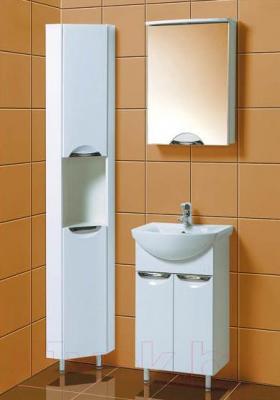 Шкаф-пенал для ванной Акваль Аврора / EA.03.00.70.L - в интерьере комплект Аврора 50