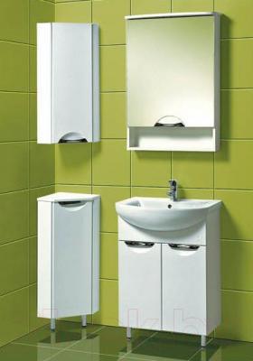 Шкаф с зеркалом для ванной Акваль Аврора 60 / EA.04.60.00.L - в интерьере