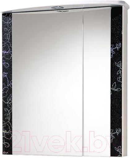 Купить Шкаф с зеркалом для ванной Акваль, Токио 60 / ТОКИО.04.60.02.L, Беларусь