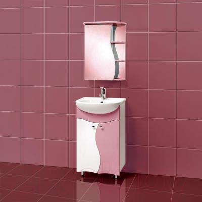 Шкаф с зеркалом для ванной Акваль Милана 50 / AM.04.50.01.L - в интерьере