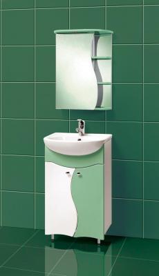 Шкаф с зеркалом для ванной Акваль Милана 50 / AM.04.50.02.L - в интерьере
