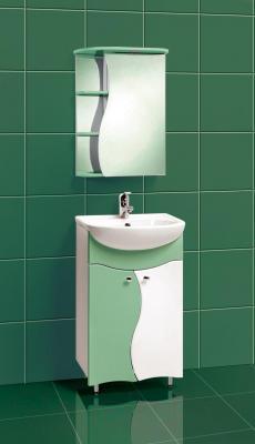 Шкаф с зеркалом для ванной Акваль Милана 50 / АМ.04.50.02.R - в интерьере