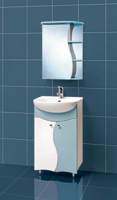 Шкаф с зеркалом для ванной Акваль Милана 50 / АМ.04.50.03.L - в интерьере