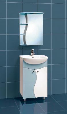 Шкаф с зеркалом для ванной Акваль Милана 50 / AM.04.50.03.R - в интерьере