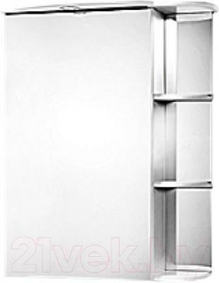 Шкаф с зеркалом для ванной Акваль Милана 65 / АМ.04.65.00.L - общий вид