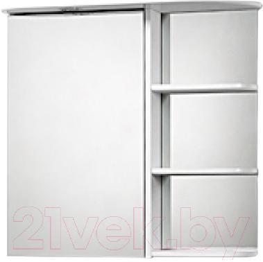 Шкаф с зеркалом для ванной Акваль Милана 70 / AM.04.71.00.L - общий вид