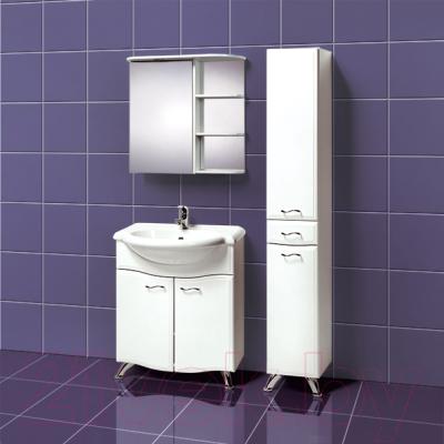 Шкаф с зеркалом для ванной Акваль Милана 70 / AM.04.71.00.R