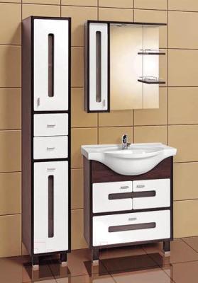 Шкаф с зеркалом для ванной Акваль Бали 75 / БАЛИ.04.75.02.L - в интерьере