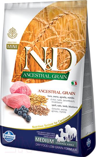 Купить Корм для собак Farmina, N&D Low Grain Lamb & Blueberry Adult Medium & Maxi (12кг), Италия