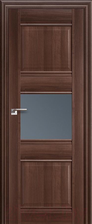 Купить Дверь межкомнатная ProfilDoors, 5Х 60x200 (орех сиена/стекло графит), Россия