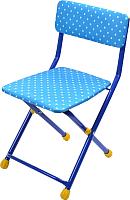 Стул детский Ника СТУ3 (горошек, голубой) -
