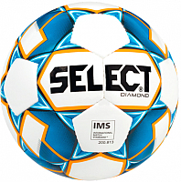 Футбольный мяч Select Diamond IMS / 810015 (размер 4, белый/синий/оранжевый) -