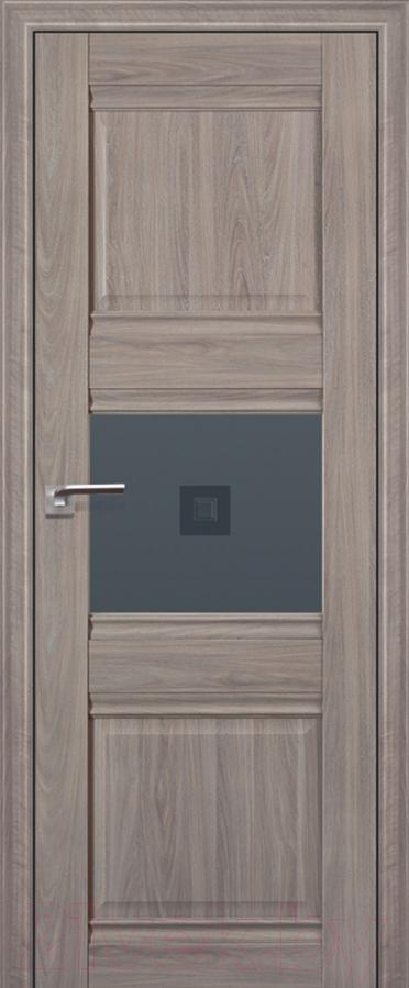 Купить Дверь межкомнатная ProfilDoors, 5Х 60x200 (орех пекан/стекло графит/прозрачный фьюзинг), Россия