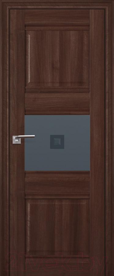Купить Дверь межкомнатная ProfilDoors, 5Х 60x200 (орех сиена/стекло графит/прозрачный фьюзинг), Россия