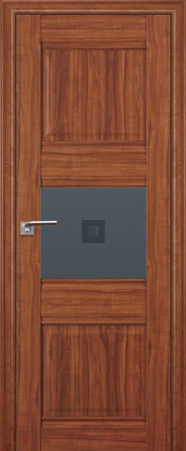 Купить Дверь межкомнатная ProfilDoors, 5Х 60x200 (орех амари/стекло графит/прозрачный фьюзинг), Россия