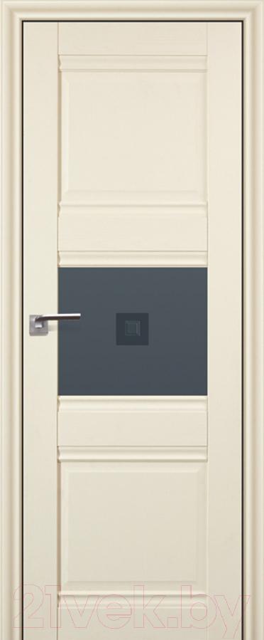 Купить Дверь межкомнатная ProfilDoors, 5Х 60x200 (эшвайт/стекло графит/прозрачный фьюзинг), Россия