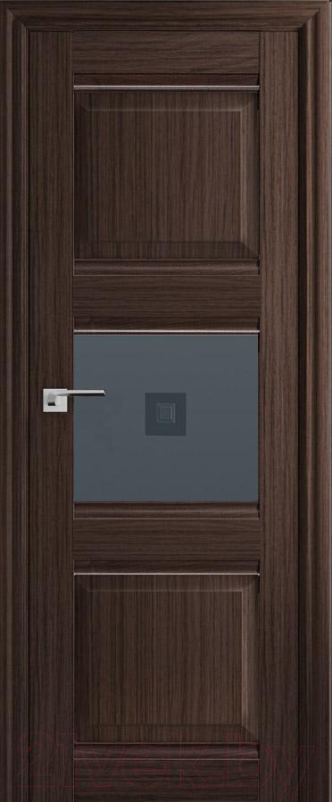 Купить Дверь межкомнатная ProfilDoors, 5Х 60x200 (натвуд натинга/стекло графит/прозрачный фьюзинг), Россия