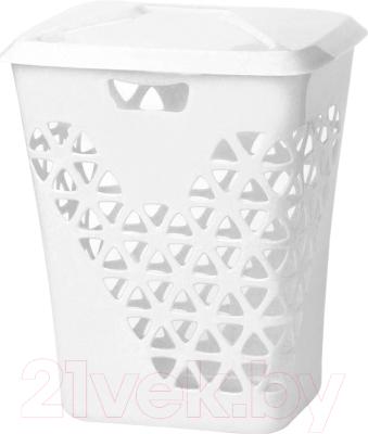 Корзина для белья Idea Венеция / М2606 (60л, белый) -