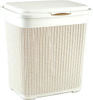 Корзина для белья Idea Вязание М2602 (40л, белый) -