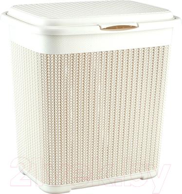 Корзина для белья Idea Вязание / М2602 (40л, белый)