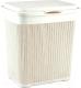Корзина для белья Idea Вязание / М2602 (40л, белый) -
