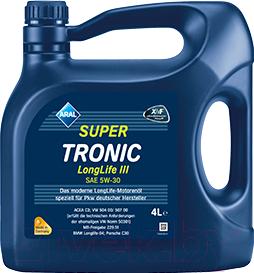 Купить Моторное масло Aral, SuperTronic LongLife III 5W30 / 15C31B (4л), Германия