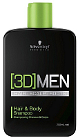 Шампунь для волос Schwarzkopf Professional 3D Men. Hair & Body Shampoo (250мл) -