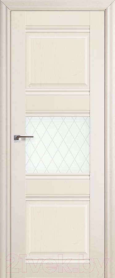 Купить Дверь межкомнатная ProfilDoors, 5Х 80x200 (эшвайт/стекло ромб), Россия