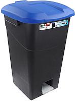 Контейнер для мусора Tayg 431029 (60л, синяя крышка) -