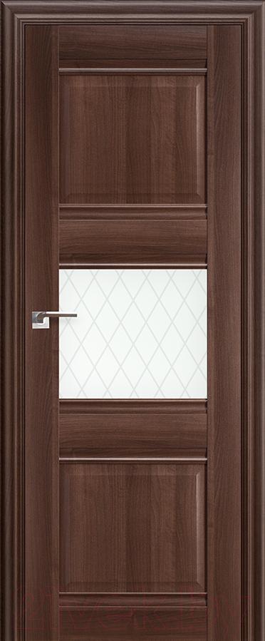 Купить Дверь межкомнатная ProfilDoors, 5Х 60x200 (орех сиена/стекло ромб), Россия