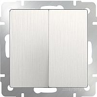 Выключатель Werkel WL13-SW-2G-2W / a040893 (перламутровый рифленый) -