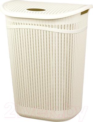 Корзина для белья Idea Вязание / М2613 (55л, белый)