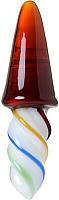 Пробка интимная Sexus Glass / 912291 (янтарный/разноцветный) -