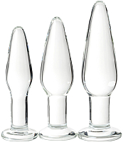 Набор пробок интимных Sexus Glass / 912306 (прозрачный) -