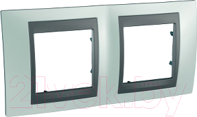 Купить Рамка для выключателя Schneider Electric, Unica MGU66.004.294, Россия, сплав поликарбоната и ASA-пластика, Unica Top (Schneider Electric)