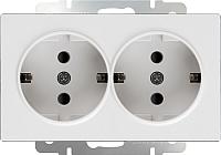 Розетка Werkel WL01-SKG-02-IP20 / a033471 (белый) -
